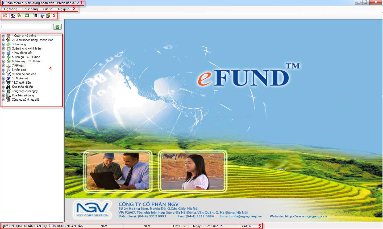 Quy ước chung trên phần mềm quỹ tín dụng nhân dân efund