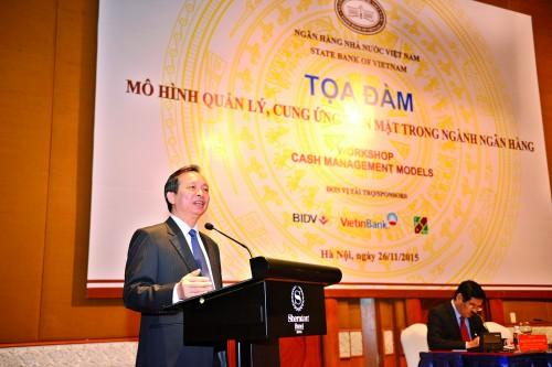 Phó Thống đốc NHNN Đào Minh Tú phát biểu chủ trì buổi tọa đàm