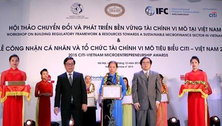 Công nhận cá nhân và tổ chức tài chính vi mô tiêu biểu Citi- Việt Nam 2015