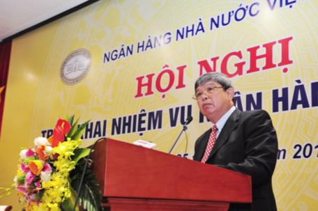 Phó Thống đốc Nguyễn Phước Thanh báo cáo công tác thanh tra, giám sát