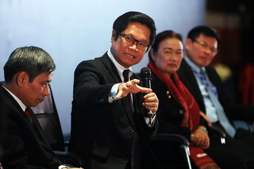 Ông Vũ Tiến Lộc chia sẻ các giải pháp thúc đẩy thanh toán điện tử