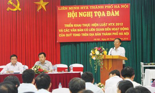 (Tọa đàm quỹ TDND với thực thi Luật HTX 2012 tại Hà Nội)