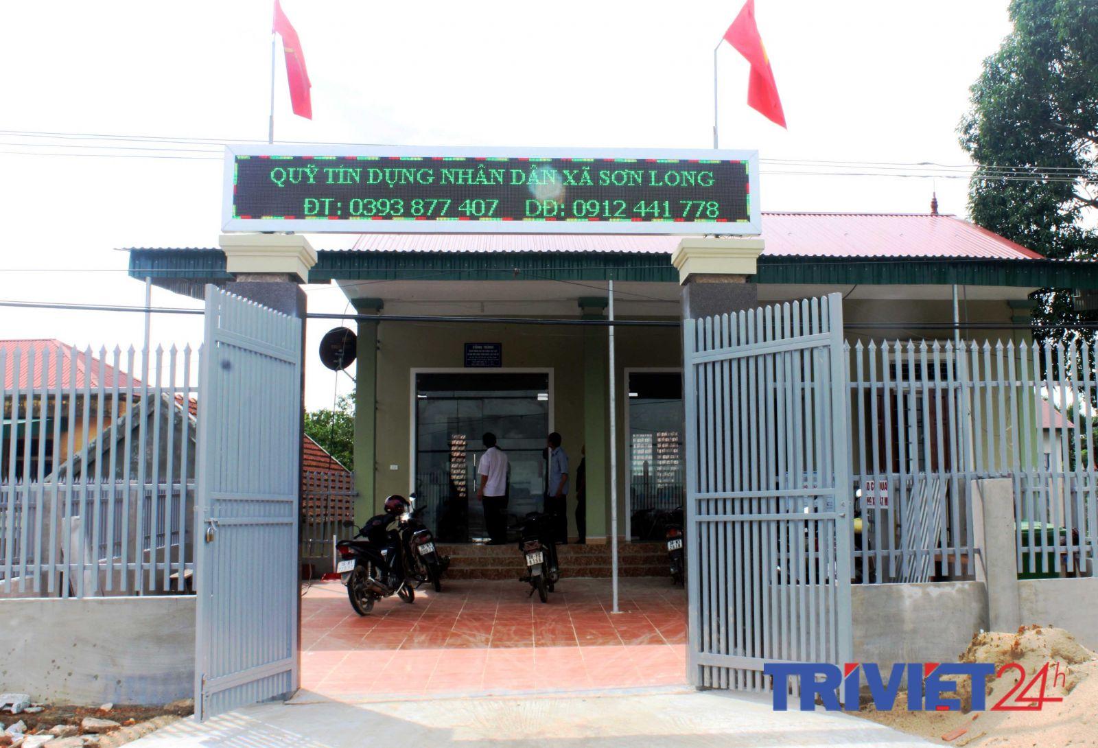 Trụ sở Quỹ tín dụng Nhân dân xã Sơn Long, Hương Sơn, Hà Tĩnh