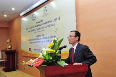 Ông Phạm Huyền Anh phát biểu khai mạc Tọa đàm
