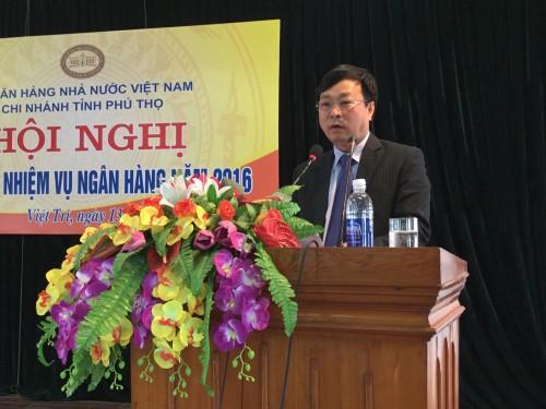 ng Bùi Văn Quang, Ủy viên Ban Thường vụ Tỉnh uỷ, Phó Chủ tịch thường trực UBND tỉnh Phú Thọ phát biểu chỉ đạo Hội nghị