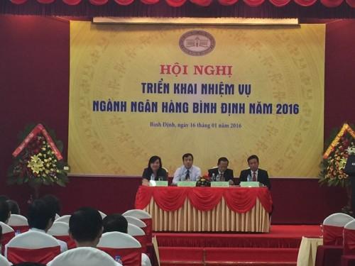 Ngành ngân hàng Bình Định triển khai nhiệm vụ năm 2016