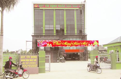 Trụ sở mới được đưa vào sử dụng tại xã Minh Lộc, Hậu Lộc