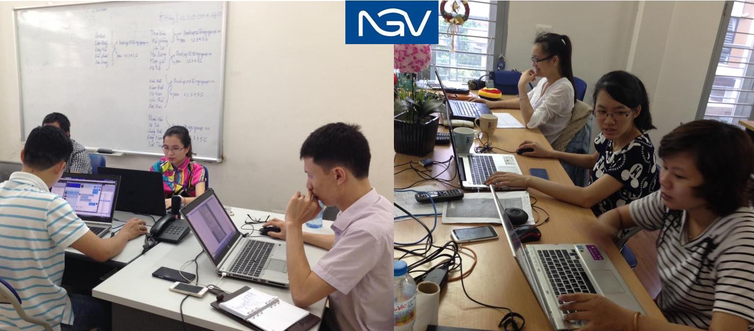 Nhan viên NGV làm việc thêm giờ cho sản phẩm báo cáo thống kê mới
