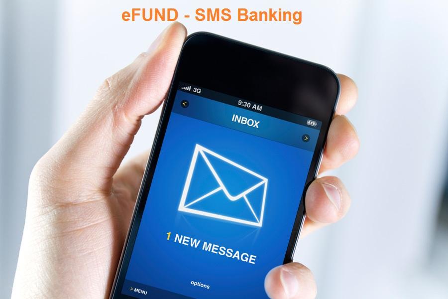 sms banking trên phần mềm eFUND
