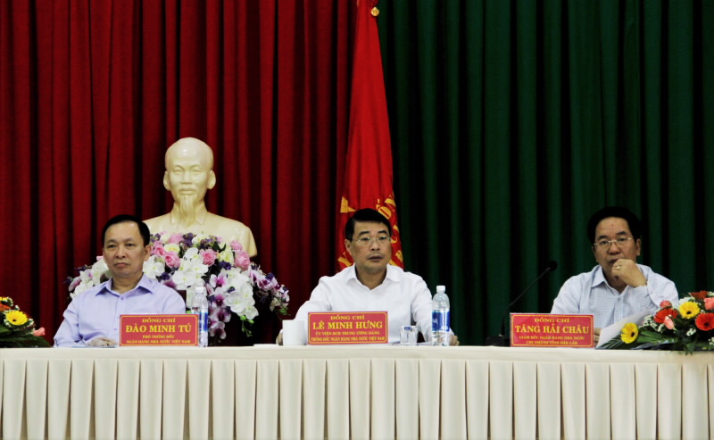 Thống đốc NHNN Lê Minh Hưng làm việc với ngành Ngân hàng tỉnh Đắk Lắk