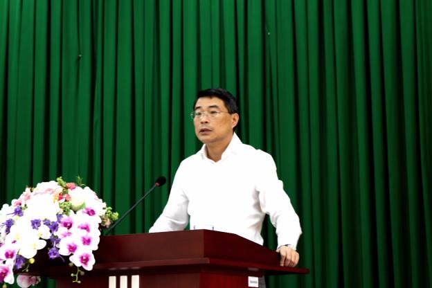 Thống đốc NHNN Lê Minh Hưng phát biểu chỉ đạo buổi làm việc
