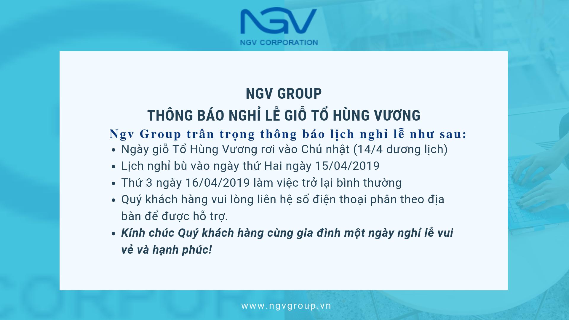 Ngv Group Thông báo nghỉ lễ giỗ tổ Hùng Vương