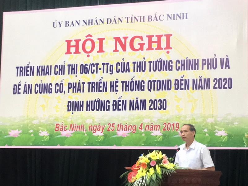 Phó Chủ tịch UBND tỉnh Bắc Ninh Nguyễn Hữu Thành phát biểu tại Hội nghị