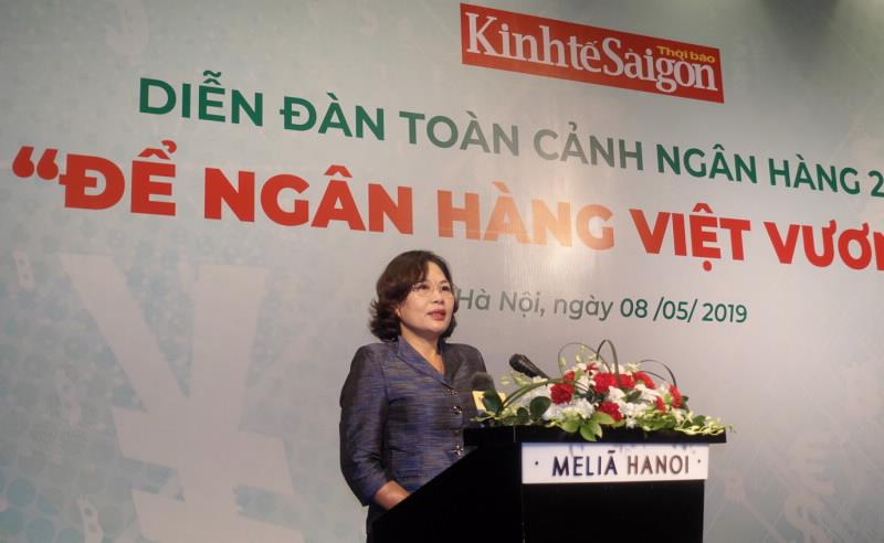 Phó Thống đốc NHNN Nguyễn Thị Hồng phát biểu khai mạc tại Diễn đàn toàn cảnh ngân hàng năm 2019