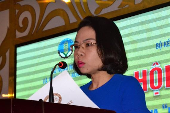 Bà Hà Thu Giang cho biết tín dụng khơi thông thúc đẩy nông nghiệp, NTM khởi sắc phát triển.