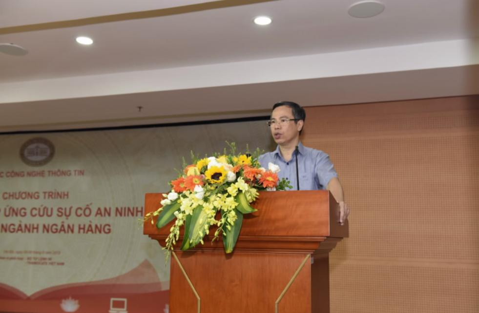 Ông Lê Mạnh Hùng - Cục Trưởng Cục Công nghệ Thông tin khai mạc buổi diễn tập