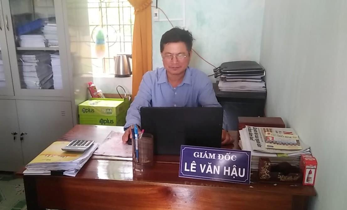 Giám đốc Quỹ tín dụng nhân dân Quỹ tín dụng nhân dân Phú Thủy - Quảng Bình - Lê Văn Hậu