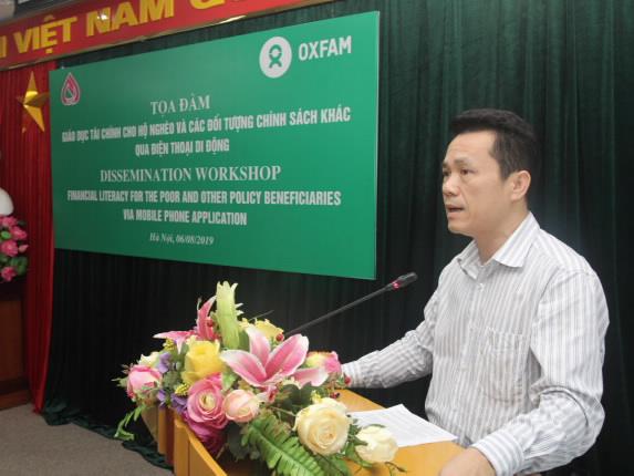 Phó Tổng Giám đốc Hoàng Minh Tế phát biểu khai mạc tại buổi toạ đàm