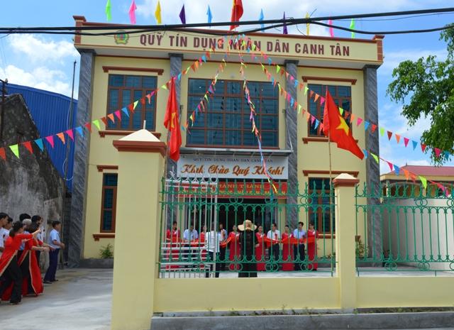 Trụ sở Qũy tín dụng nhân dân xã Canh Tân.